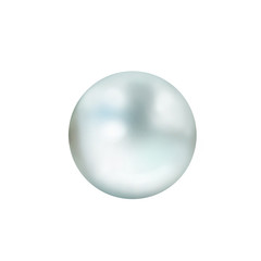White pearls on white background with two out of focus