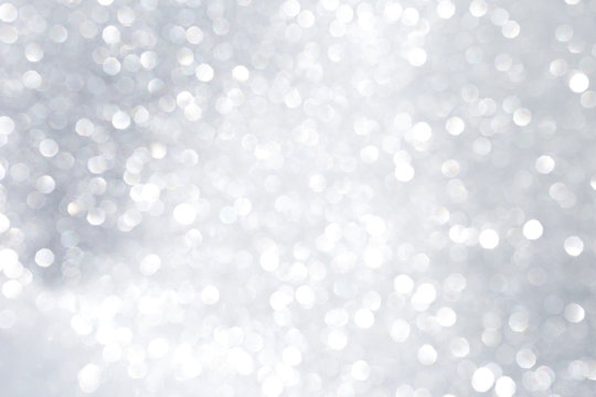 Abstract Silver shiny bokeh background