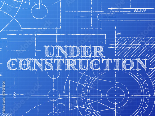 Under construction blueprint tech drawing stock image and royalty under construction blueprint tech drawing malvernweather Images