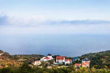 Black Sea coastline in Oreanda district in evening
