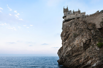 Swallow Nest Castle on Ay Todor cape in Crimea