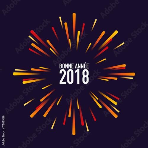 2018 carte de v ux feu d artifice bonne ann e carr f te fichier vectoriel libre de - Carte de voeux originale 2017 ...