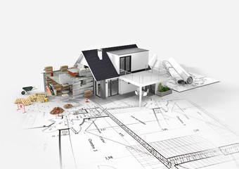 Projet d'agrandissement rénovation extension d'une maison