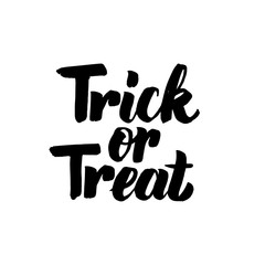 Trick or Treat isolated Lettering
