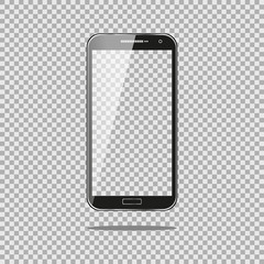 Realistic phone PC Computer with Transparent Screen Isolated on Background. Can Use for Template, Project, Presentation or Banner. for your web design