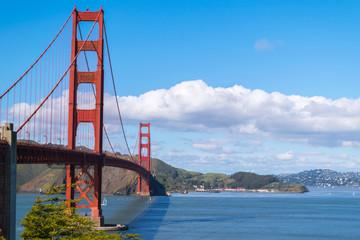 Golden Gate Park and Golden Gate Bridge, San Francisco, California, USA