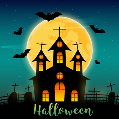 Halloween day background, Vector illustration