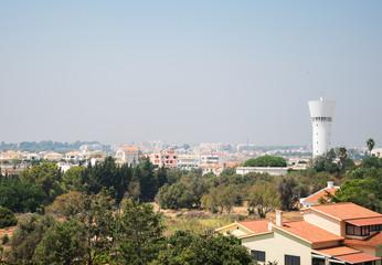 Smog cover the Portimão city in Portugal.