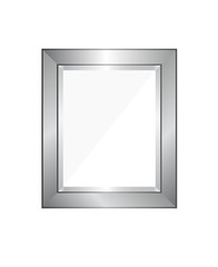 Vector blank silver picture frame