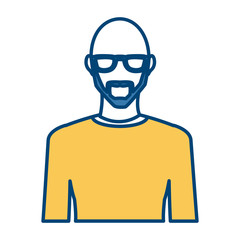 Young man avatar icon vector illustration graphic design