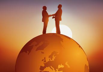 accord - poignée de main - monde - pouvoir - politique - dirigeant