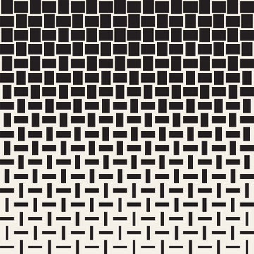 Vector Seamless Geometric Pattern. Halftone gradient color transition. Woven Lines Simple Lattice