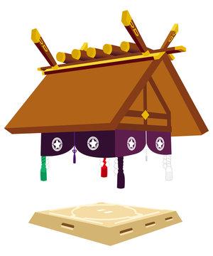 相撲【土俵罫線なし】北側
