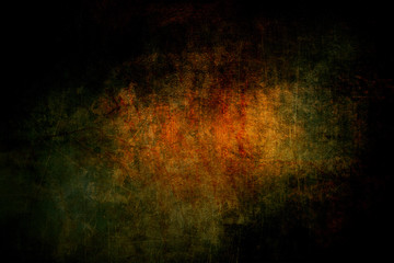 Dark scary grunge texture with scratches – rusty metal background