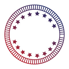 united states of america emblem frame