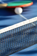 Close up of a ping pong table. Sport concept