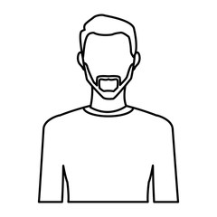 Young man avatar icon vector illustration graphic design