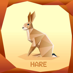 Origami brown Hare