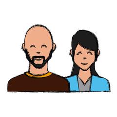 Couple of friends icon vector illustration graphic design