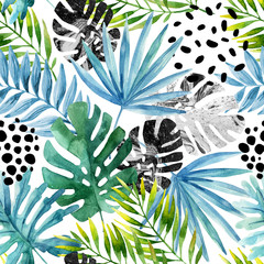 Hand drawn abstract tropical summer background