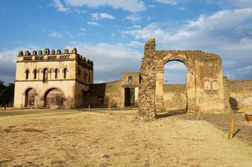 Medieval fortress in Gondar, Ethiopia, UNESCO World Heritage site.