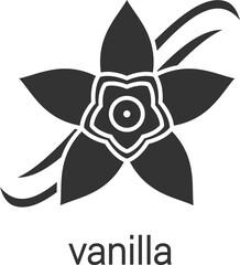 Vanilla flower glyph icon