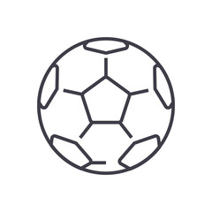 soccer ball,football vector line icon, sign, illustration on white background, editable strokes