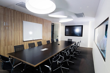 Portrait of modern well designed conference room