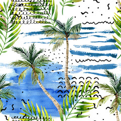 Keuken foto achterwand Grafische Prints Abstract summer natural seamless pattern.