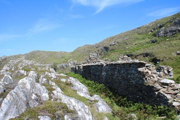 Stone cottage on the mountain side, Ireland