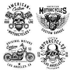 Set of vintage emblems