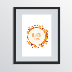 Vector Autumn Design on Picture Frame