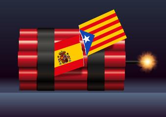 Espagne - catalogne - référendum - drapeau -indépendance - politique