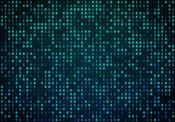Abstract Binary Code Background Illustration, Binary Pattern, Zeroes and Ones