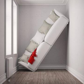 Raum zu klein für Sofa