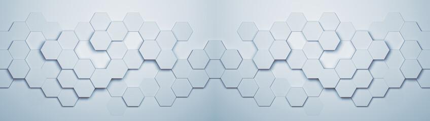 Fototapeta Panorama Hintergrund mit Hexagon Waben Muster obraz