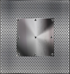 metal background with opening
