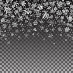 Snowflakes Pattern Seamless Christmas Background