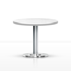 Realistic One Leg Round Table