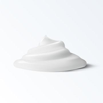 Realistic Cream Isolated On White Background