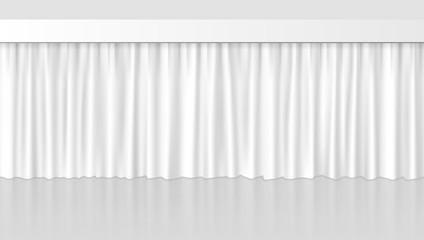 White Clean Curtain Background For Your Design