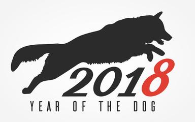The Dog Jumps, vector illustration