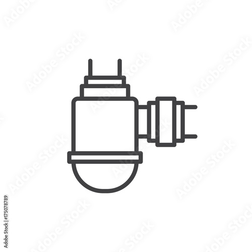 Water Filter Line Icon Outline Vector Sign Linear Style Pictogram