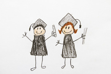 Kid Drawing: Graduation
