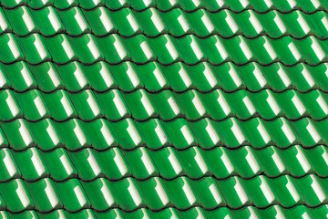 Green house roof tiles. Geometric pattern background image