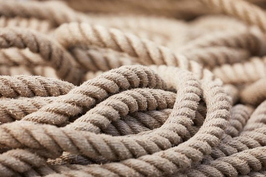 Rope in a pile