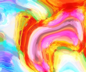 graphic illustration of liquid swirl marble pattern background in vivid funky tone color