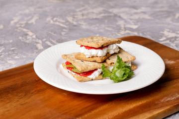 cream cracker and jam