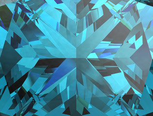 Realistic aquamarine  texture close up, 3D illustration.
