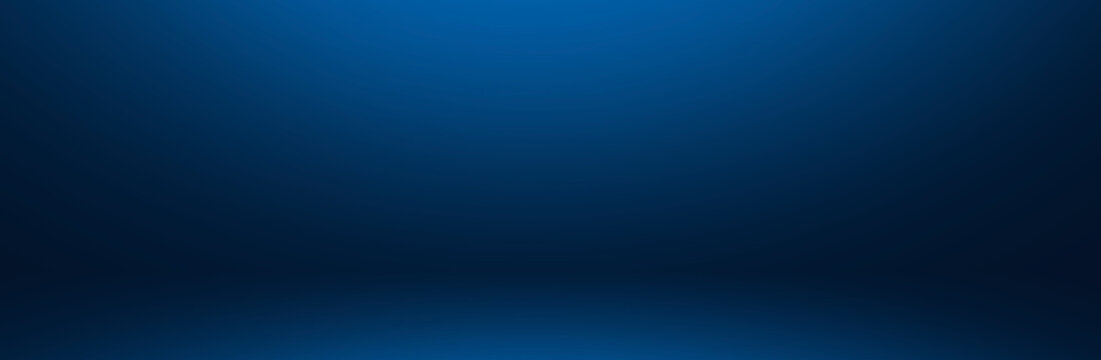 dark and soft blue  abstract  cement wall and studio room gradient background.